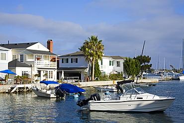 Grand Canal on Balboa Island, Newport Beach, Orange County, California, United States of America, North America