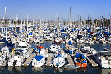 Marina in Dana Point Harbor, Orange County, California, United States of America, North America