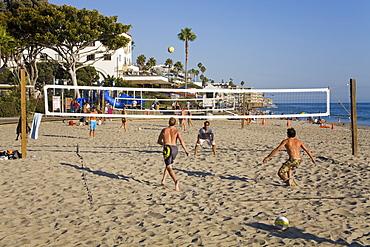 Volleyball on Laguna Beach, Orange County, California, United States of America, North America