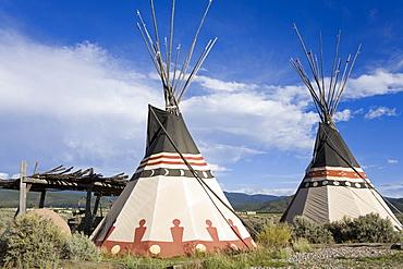 Tepee near Taos, New Mexico, United States of America, North America
