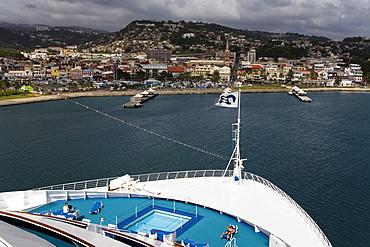 Cruise Ship Terminal, Fort-de-France, Martinique, French Antilles, West Indies, Caribbean, Central America