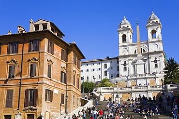 Piazza di Spagna and Spanish Steps, Rome, Lazio, Italy, Europe