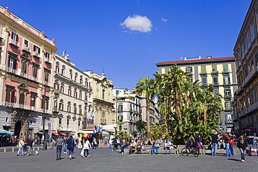 Piazza Dante in Naples, Campania, Italy, Europe