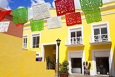 Mercado De Artesanias in Plaza del Sol, San Miguel City, Cozumel Island, Quintana Roo, Mexico, North America