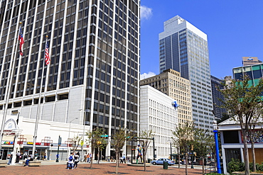Skyscrapers on Peachtree Street, Atlanta, Georgia, United States of America, North America