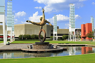 Flair Across America sculpture by Richard MacDonald, Georgia World Congress Center, Atlanta, Georgia, United States of America, North America