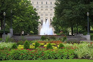 Fountain in Linn Park, Birmingham, Alabama, United States of America, North America