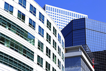 Skyscrapers on Broadway, Denver, Colorado, United States of America, North America