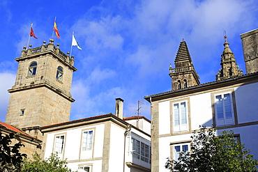 Fonseca Palace on Praza de Fonseca, Santiago de Compostela, Galicia, Spain, Europe