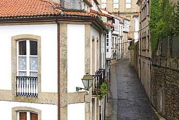 Franco Street in Old Town, Santiago de Compostela, Galicia, Spain, Europe
