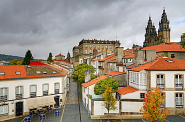 Old Town, Santiago de Compostela, UNESCO World Heritage Site, Galicia, Spain, Europe