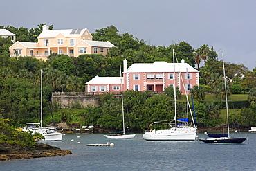 Houses in Pitts Bay, Hamilton City, Pembroke Parish, Bermuda, Central America