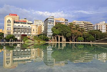 Plaza Espana Lake, Santa Cruz de Tenerife, Tenerife Island, Canary Islands, Spain, Europe, Europe