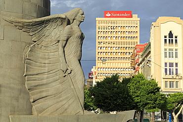 Civil War Memorial in Plaza Espana, Santa Cruz de Tenerife, Tenerife Island, Canary Islands, Spain, Europe, Europe