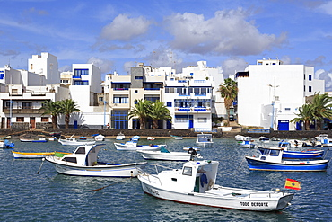 Boats in Charco de San Gines, Arrecife, Lanzarote Island, Canary Islands, Spain, Atlantic, Europe