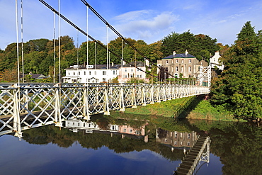 Mardyke suspension bridge over the River Lee, Cork City, County Cork, Munster, Ireland, Europe