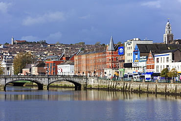 St. Patrick's Quay on the River Lee, Cork City, County Cork, Munster, Republic of Ireland, Europe