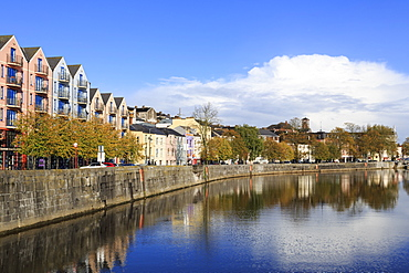 Pope's Quay on the River Lee, Cork City, County Cork, Munster, Republic of Ireland, Europe