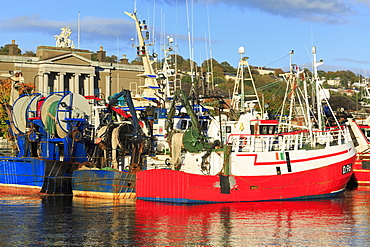 Trawlers on Penrose Wharf, Cork City, County Cork, Munster, Republic of Ireland, Europe