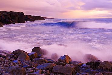 The Burren coastline near Doolin, County Clare, Munster, Republic of Ireland, Europe