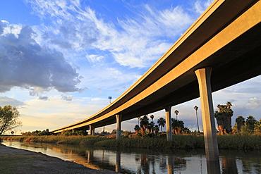 Interstate 8 Bridge over the Colorado River, Gateway Park, Yuma, Arizona, United States of America, North America