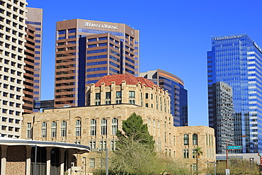 Old City Hall in Cesar Chavez Plaza, Phoenix, Arizona, United States of America, North America