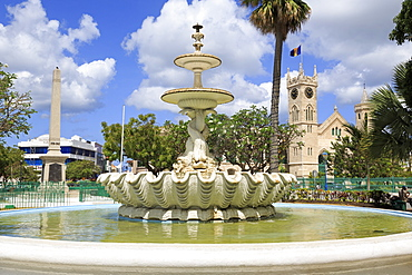 Fountain in National Heroes Square, Bridgetown, Barbados, West Indies, Caribbean, Central America