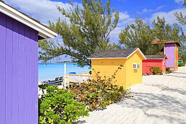 Cabana on Half Moon Cay, Little San Salvador Island, Bahamas, West Indies, Central America