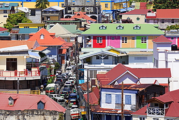 Downtown Roseau, Dominica, Windward Islands, West Indies, Caribbean, Central America