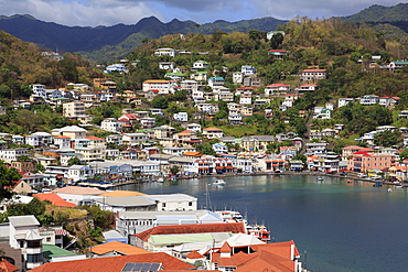 View of The Carenage from Fort George, St. Georges, Grenada, Windward Islands, West Indies, Caribbean, Central America