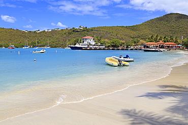 Beach in Cruz Bay, St. John, United States Virgin Islands, West Indies, Caribbean, Central America