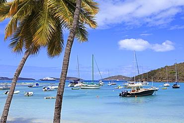 Boats in Cruz Bay, St. John, United States Virgin Islands, West Indies, Caribbean, Central America
