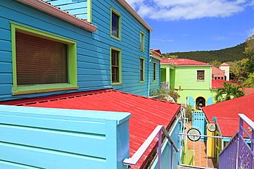 Wharfside Village in Cruz Bay, St. John, United States Virgin Islands, West Indies, Caribbean, Central America