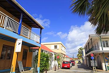Rue Jeanne d'Arc in Gustavia, St. Barthelemy (St. Barts), Leeward Islands, West Indies, Caribbean, Central America