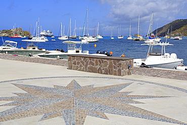 La Pointe in Gustavia Harbor, Gustavia, St. Barthelemy (St. Barts), Leeward Islands, West Indies, Caribbean, Central America