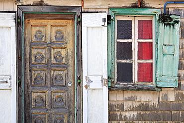 House on Bruyn Street, Gustavia, St. Barthelemy (St. Barts), Leeward Islands, West Indies, Caribbean, Central America