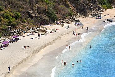 Shell Beach in Gustavia, St. Barthelemy (St. Barts), Leeward Islands, West Indies, Caribbean, Central America