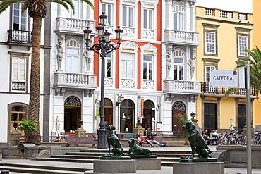 Plaza de Santa Ana in the Vegueta District, Las Palmas City, Gran Canaria Island, Canary Islands, Spain, Europe