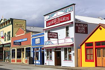 Stores on 5th Avenue, Skagway, Alaska, United States of America, North America