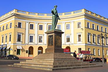 Duke de Richelieu Monument, Odessa, Crimea, Ukraine, Europe