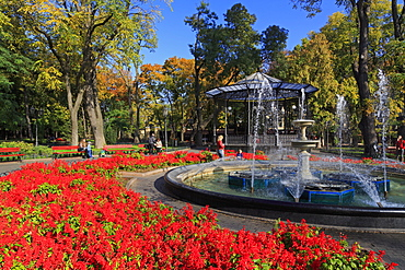 Fountain in City Garden, Odessa, Crimea, Ukraine, Europe