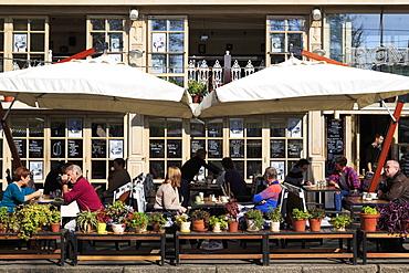 Restaurant on Deribasovskaya Street, Odessa, Crimea, Ukraine, Europe