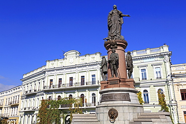 Empress Catherine Monument, Odessa, Crimea, Ukraine, Europe