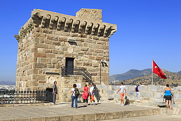 French Tower in Castle of St. Peter, Bodrum, Anatolia, Turkey, Asia Minor, Eurasia