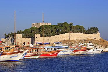 Pigeon Island Castle, Kusadasi, Aydin Province, Anatolia, Turkey, Asia Minor, Eurasia