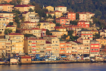 Town of Sanyer on the Bosphorus Strait, Istanbul, Turkey, Europe