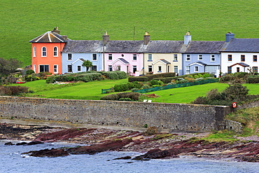 Row of cottages at Roches Point, Whitegate Village, County Cork, Munster, Republic of Ireland, Europe