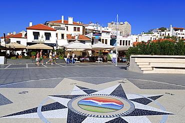 Compass in Old Town, Marmaris, Anatolia, Turkey, Asia Minor, Eurasia