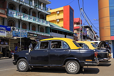 Taxis in Port Blair, Andaman Islands, India, Asia