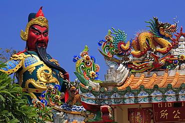 Statue in Hainan Temple, Nathon City, Koh Samui Island, Thailand, Southeast Asia, Asia